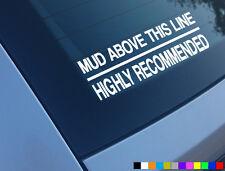 FANGO al di sopra di tale linea Car Adesivo divertente Decalcomania 4x4 OFF ROAD Landrover Discovery TD5