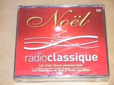BOITIER 3 CD / LES TROIS TENORS CHANTENT NOEL / RADIO CLASSIQUE / NEUF CELLO