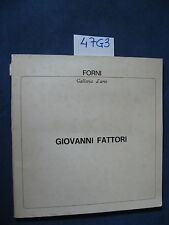 Giovanni Fattori GALLERIA D'ARTE fORNI