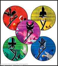 30X EDIBLE CUPCAKE CAKE TOPPERS DECORATION POWER RANGERS