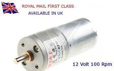 100 RPM 12V DC HIGH TORQUE Electric Motor & Gearbox  - ARDUINO - RASPBERRY Pi