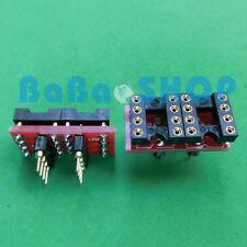 10pc DIP to DIP Dual to Mono Opamp PCB Adapter OPA627BP AD797AN OPA604AP AD847AQ