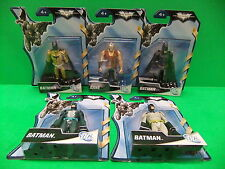 "Batman & Bane 4"" Figure Lot Black Suit, Grey, Green, Gold The Dark Knight Rises"