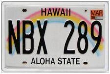 HAWAII - JUMBO FRIDGE MAGNET - LICENCE PLATE UNITED STATES AMERICA HONOLULU