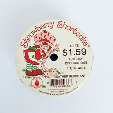 "1 7//16/"" craft Vintage Strawberry Shortcake Holiday Satin Embossed ribbon 10 ft"