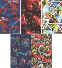 10 Sheets Folded Super Heros Gift Wrapping Wrap Paper 2 of each design AFWLH1