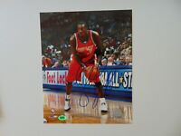 """Charlotte Bobcats"" Gerald Wallace Hand Signed 8X10 Color Photo CAS COA"