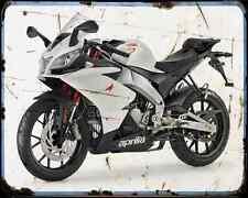 APRILIA Rs4 11 5 A4 Metal Sign moto antigua añejada De