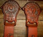 VINTAGE F.E. MYERS CAST IRON STAYON BARN DOOR ROLLER SET