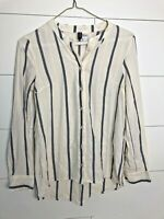 DIVIDED H&M Women's Button Down Striped Top Blouse Size 2 Small