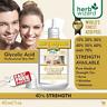 40% GLYCOLIC ACID Chemical Peel Kit Medical Grade 100% Pure! Acne-Scars-Wrinkles
