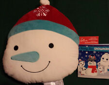 Hallmark Polariffic Snowman Pillow with Snuggle Stories Storybook