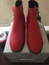 Red Leather Zip Chelsea Boots Size 4 (New With Tags) RRP £40.00