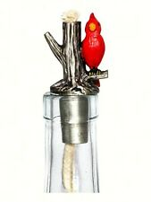 Cardinal Painted Pewter Winelight. Oil Lamp for Wine Bottle