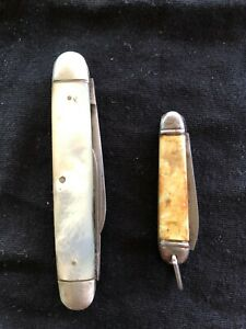 VINTAGE POCKET KNIVES X 2. SMALL ONE MADE IN GERMANY AND OTHER J RODGERS CUTLERS