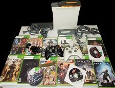 Huge Xbox 360 20Gb Console Bundle 15 Games Controllers Halo Cod Lot ExtrasRead