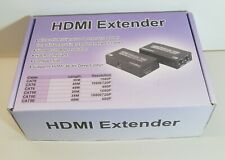 HDMI Extender (Tx + Rx) 30m Over RJ45 Cat5e/ Cat6 Cable. Full-HD-1080P.