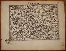 Stampa Antica Old print Ortelius Galle 1592 Savoia France Piemonte