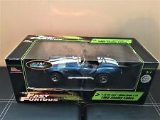 ! Raro! Ertl Joyride el rápido y el furioso Diecast 1965 Shelby Cobra 1:18