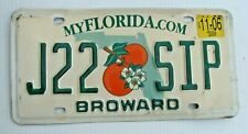 """FLORIDA  AUTO LICENSE PLATE """" J22 SIP """"  TAKE A DRINK  CUP BOTTLE WATER"""