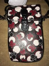 DISNEY IPHONE MINNIE Mouse Red and Black  Wristlet Crossbody All iPhones Case