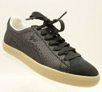 NEW PUMA Clyde Casual Sneakers Women's 7.5 Black Leather Shoes $70