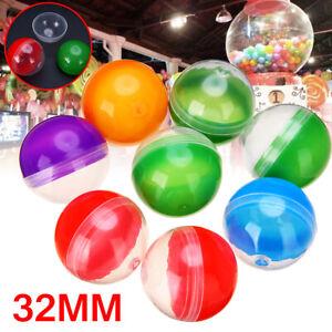 "50pcs Vending Machine Empty Round Toy Capsules Mix Color 1.2"" 32mm Diameter"