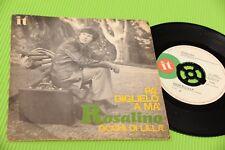 """ROSALINO CARVER RON 7"""" OCHI DE LILA' ORIG 1970 NM PROMO EDICIÓN"""