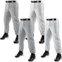 Champro Triple Crown Youth Boy's White & Grey Pinstripe Baseball Pant