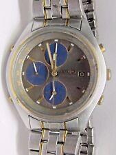Vintage Gts Seiko Quartz Chronograph/Alarm/Date Wrist Watch. Seiko Band.