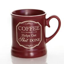 Novelty Offensive Victorian Style Mug Coffee Helps It Done 10oz Cup Office Work