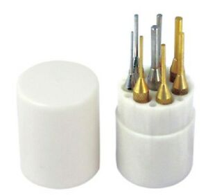 8 pc Pin Punch Set  4 Brass 4 Chrome Jewelers Gunsmiths Hobbyists etc