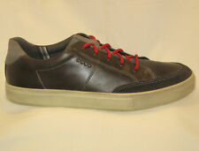 ECCO Kyle Leather Sneakers Sz EUR 45 USA Mens 11 - 11.5 Black Gray