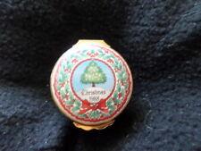 Halcyon Days Vintage Enamel Christmas Trinket Box - 1988 Tree