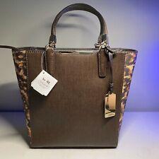 NWT Coach Madison Colorblock Saffiano Leather Mini North South Handbag 32683