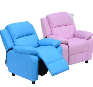 HOMCOM Kids Recliner Armchair Game Chair Sofa Children Seat In PU Leather
