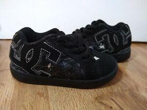 DC Shoes Court Graffik Elastic  Infant Toddler  Boys Size 6 Black VGUC