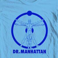 The Watchmen Dr. Manhattan T-shirt DC Comics  retro graphic novel tee WBM118