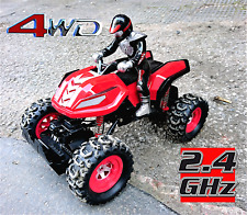 Remote Control Off Road Quad Bike ATV 4WD Rally Car 1:12 Scale Channel RC NEW