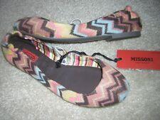 "MISSONI for Target Girl's ""Knit Zig Zag Ballet Flats"" Shoes Fushia Sz 2Y NWT"