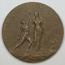 1898 Neuchatel Switzerland Bronze 50th Anniversary of Swiss Unification Medal JA