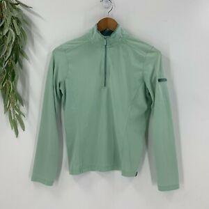 Horny Toad Womens Pullover 1/2 Zip Shirt Lightweight Mock Neck Top Size S Green