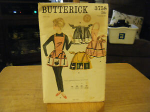Butterick 3758 Misses Aprons in 4 Versions Pattern