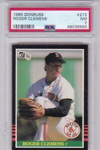RG: 1985 Donruss Baseball Card #273 Roger Clemens Rookie Boston Red Sox - PSA 7