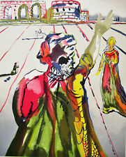 DALI - POET ADVISES THE MADIEN  -  LITHOGRAPH  - SIGNED  - FREE SHIP IN US  !!!