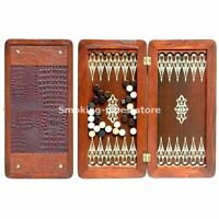 "Klassisch mittel NATURHOLZ Backgammon ""ORION"" HANDARBEIT 400x400mm 16""x16"" Nardy"