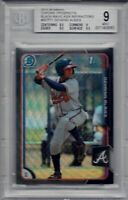 OZZIE ALBIES ROOKIE 2015 Bowman Chrome Black Wave Asia Refractor BGS 9 MINT RARE