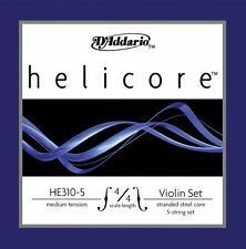 D'Addario Helicore Violin 5-String Set, 4/4 Scale, Medium Tension