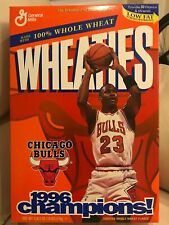 MINT SEALED  Wheaties Cereal Box Michael Jordan Chicago Bulls 1996 Champions