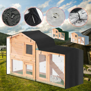 Pet Bunny Cage Waterproof Dustcover Patio Without Cage Rabbit Hutch Cover